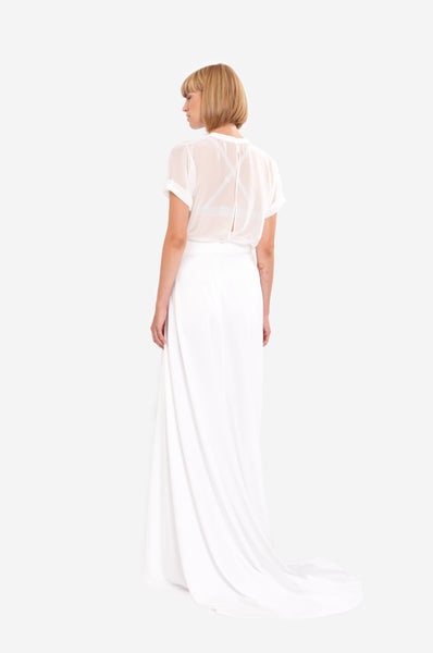Leeda: skirt - WEDDING WRAP SKIRT