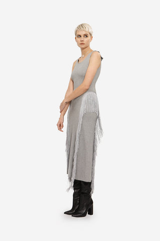 "GREY COTTON DRESS ""FLOWING"""
