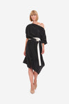 DRESS WITH BELT ON SIDE & SLEEVES 01