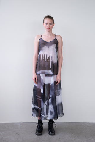 "COTTON DRESS ""FLOWING"""