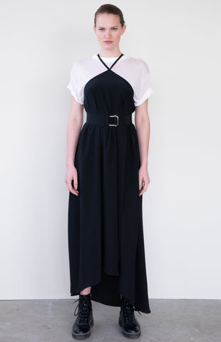 LONG PLEATED SKIRT CATCH ME B&W