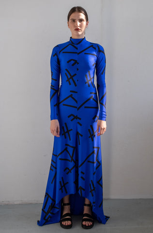SILK DRESS WITH BELT