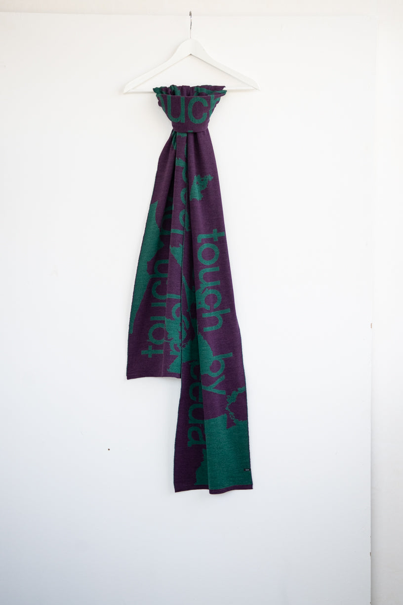 "LIMITED VIOLET  SCARF ""TOUCH ME"""