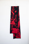 "WOOL SCARF ""TOUCH ME"" RED"