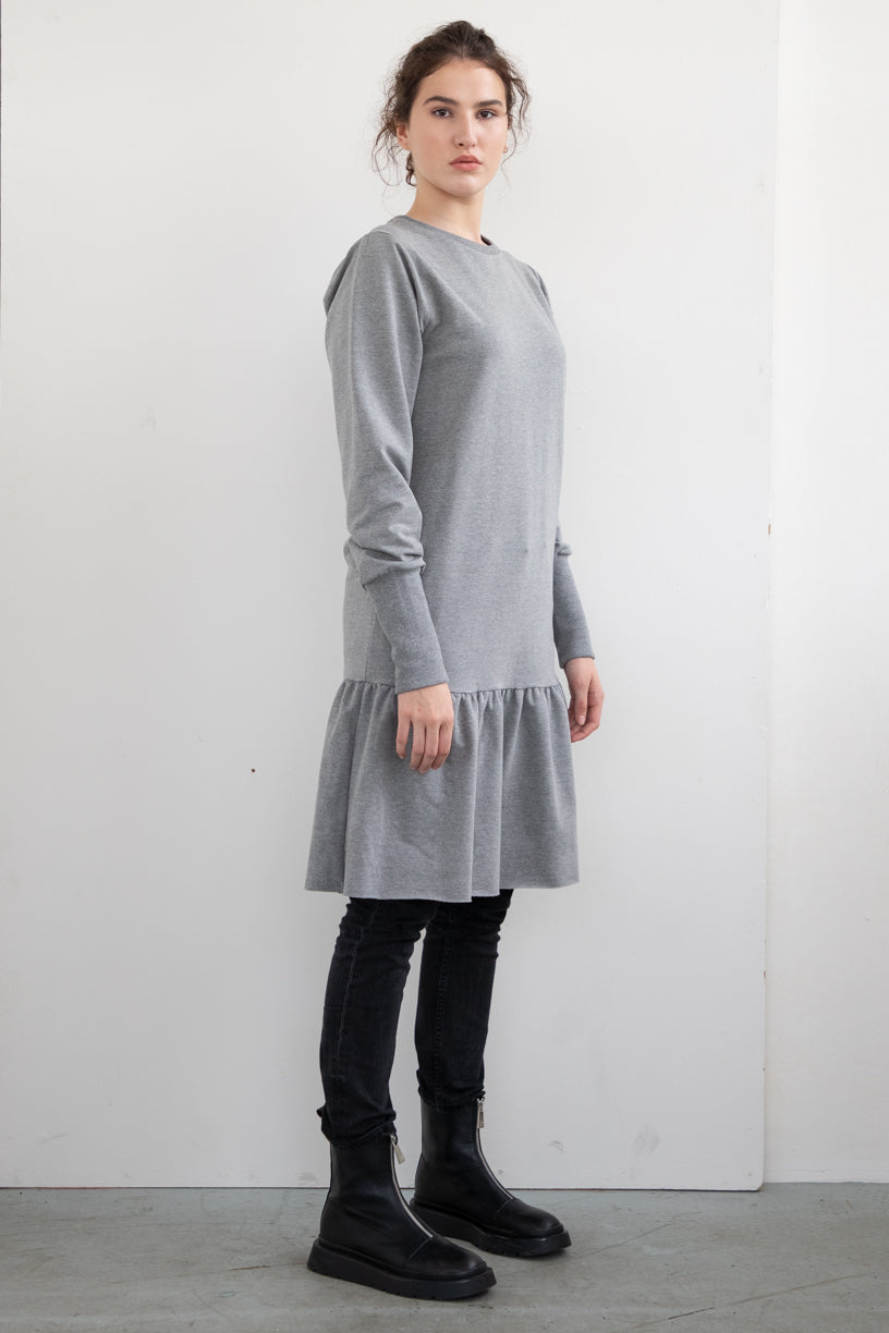 COTTON DRESS TOUCH ME WITH LONG SLEEVE