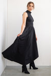 WRAP SKIRT TOUCH ME - BLACK