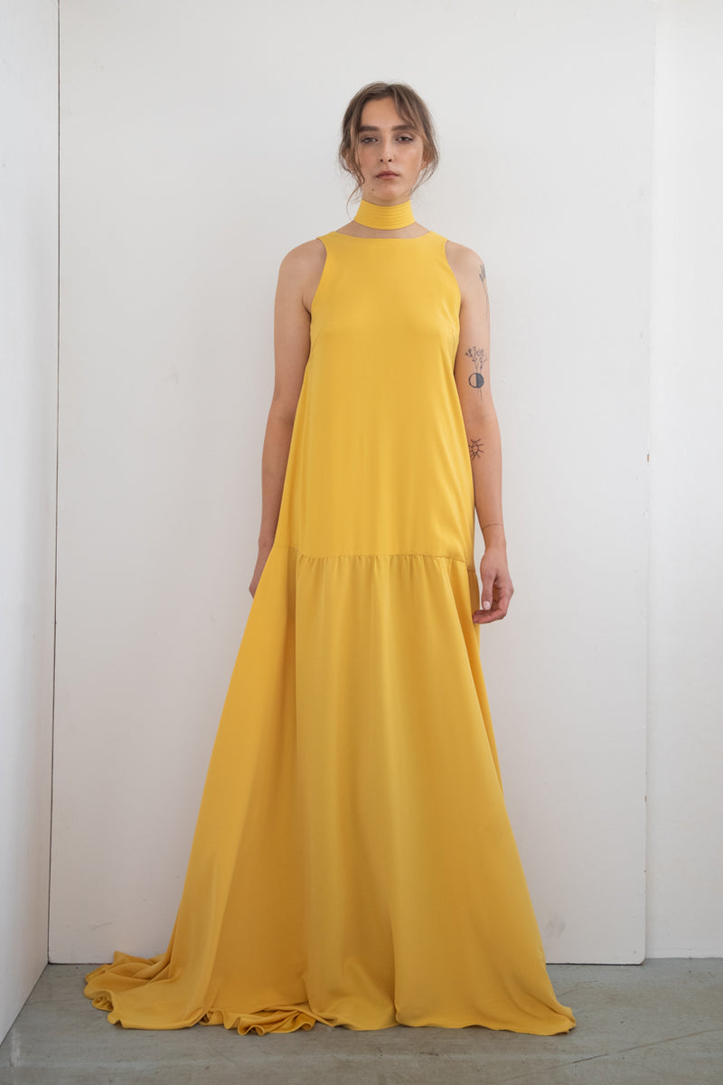 MAXI DRESS WITH BELT TOUCH ME