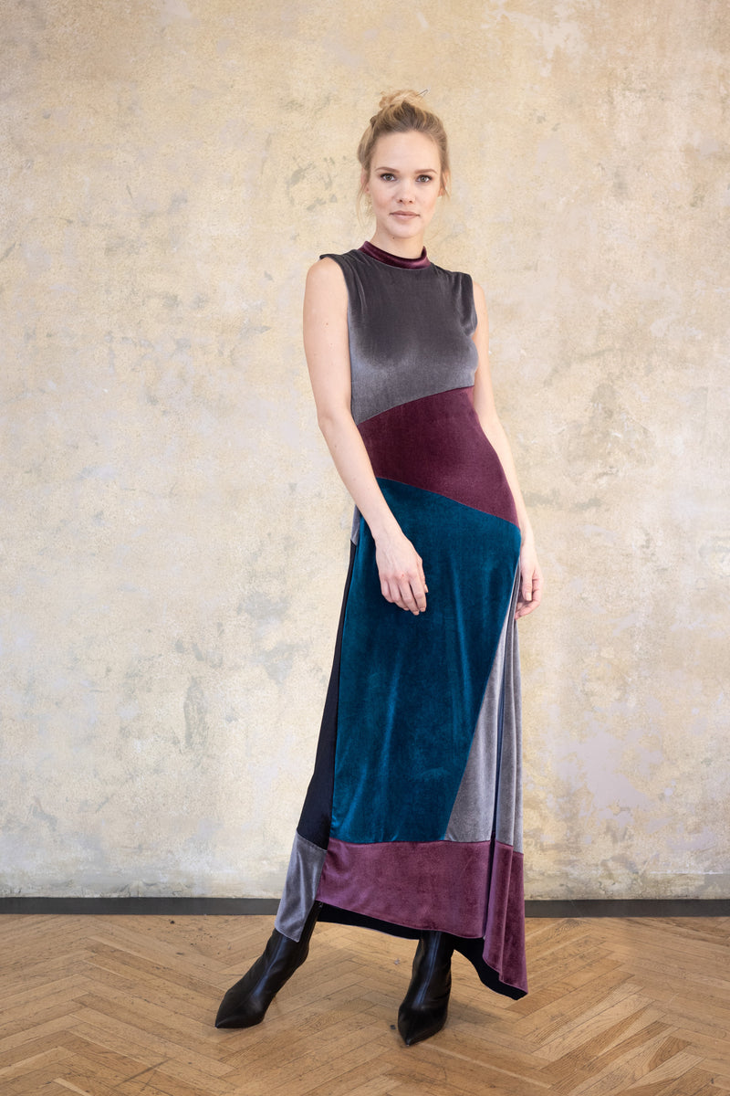 Leeda: dress - LONG VELVET DRESS