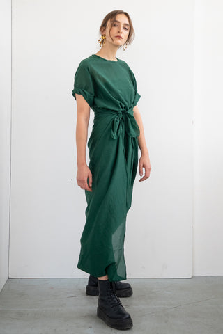 SILK DRESS WITH BELT TOUCH ME