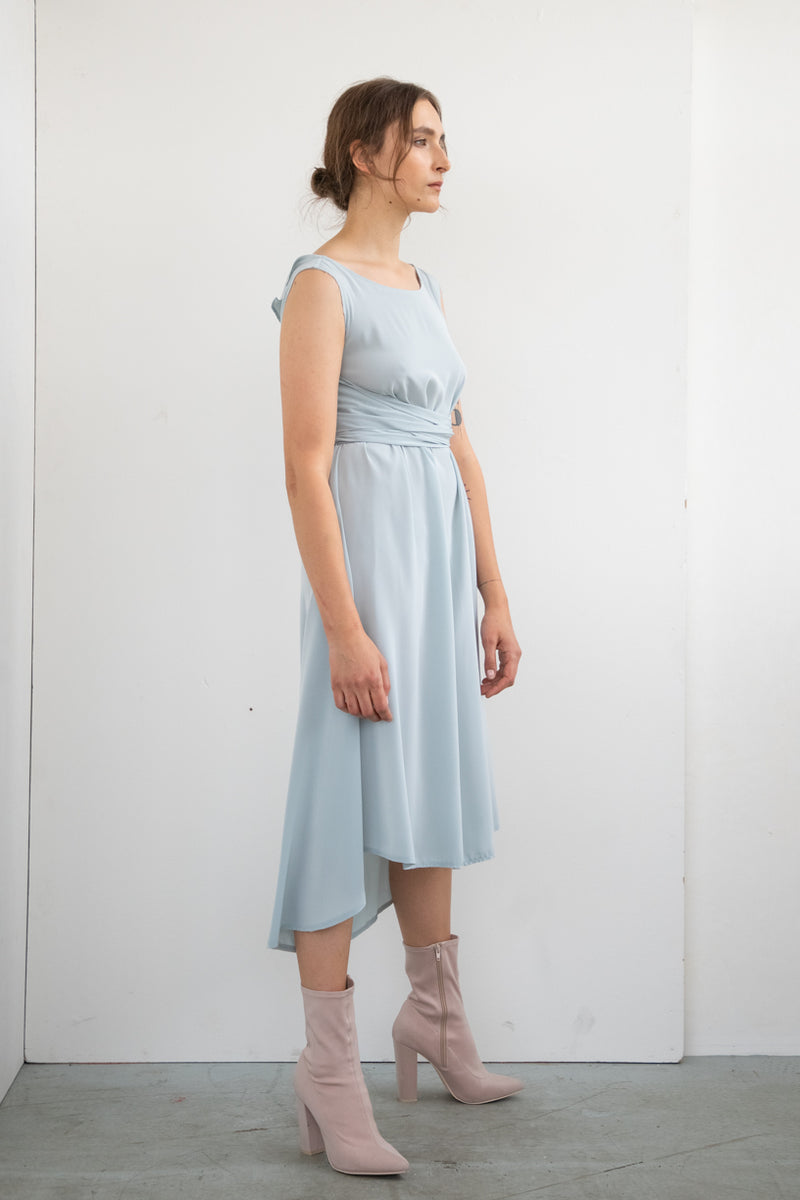 SKY BLUE OCCASION WRAP DRESS
