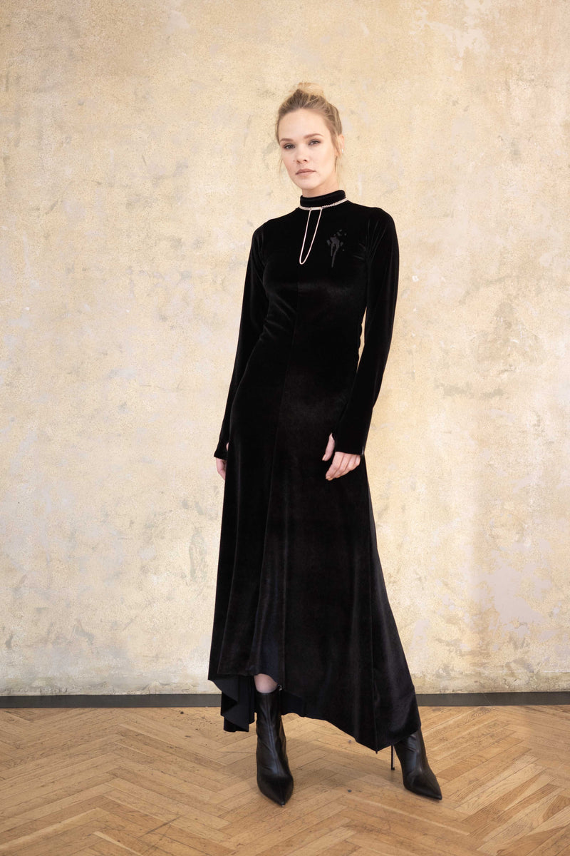 Leeda: dress - VELVET DRESS VAMP