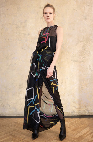 SEMITRANSPARENT DRESS