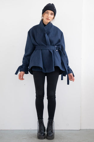 TIE WRAP SWEATSHIRT LONG