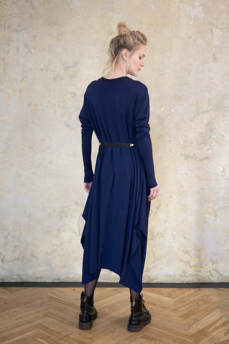 "Leeda: dress - JERSEY DRESS ""KNOT"" L.S."