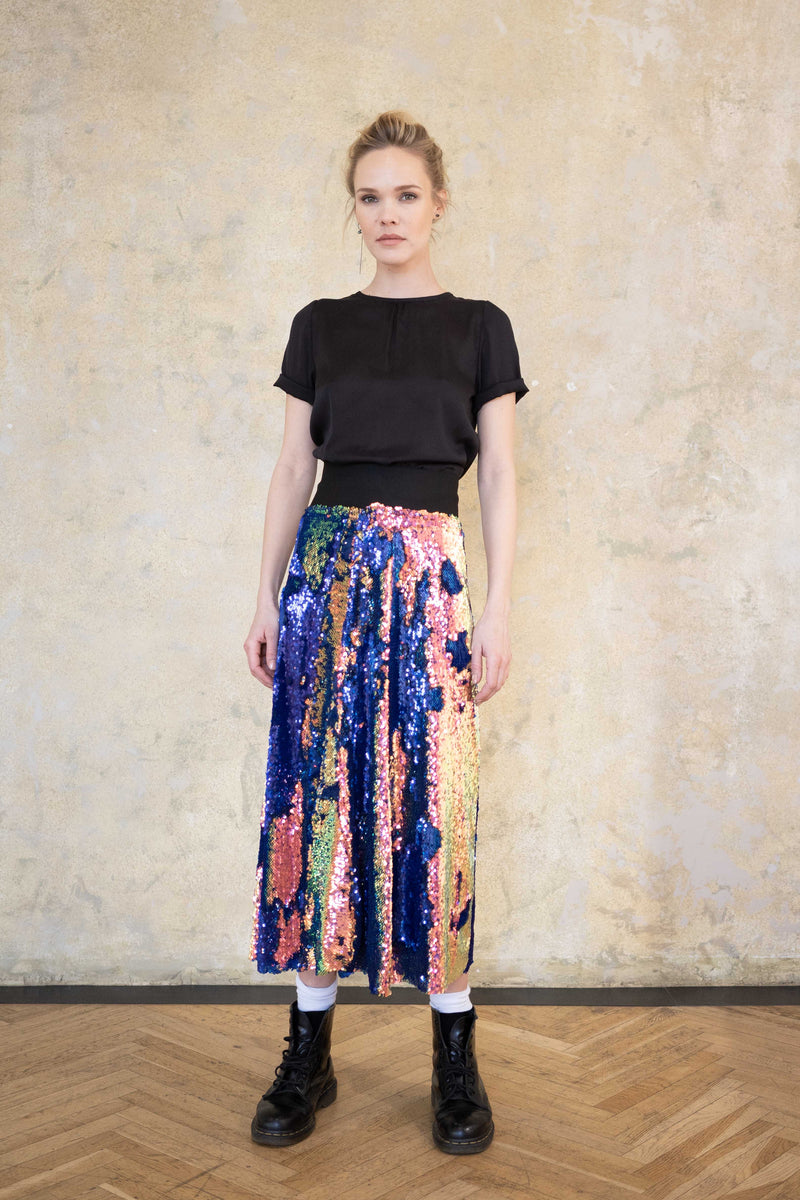 Leeda: skirt - SEQUIN SKIRT