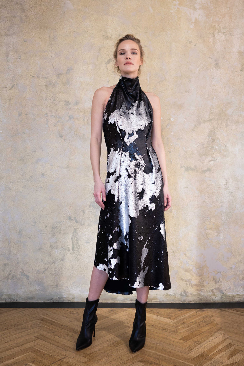 "Leeda: dress - MIDI DRESS ""NIGHT SKY"""