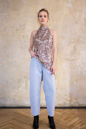 Leeda: top - SEQUIN TOP