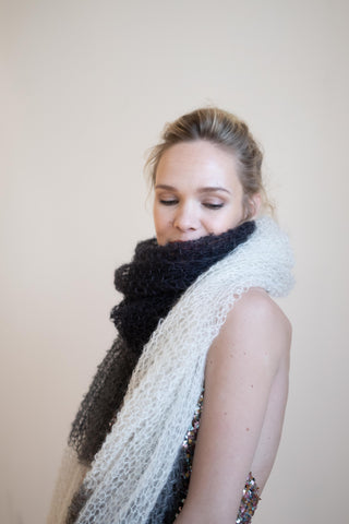 LARGE HAND KNITTED SCARF
