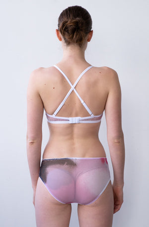 Leeda: brief - MID RISE BRIEF IN PINK MESH