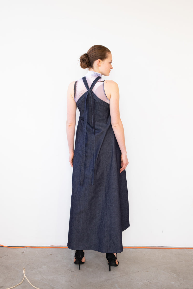 Leeda: dress - DENIM DRESS WITH BELT