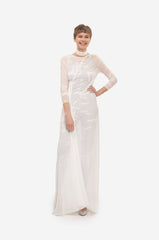 Leeda: dress - MAXI DRESS WITH BELT ON SIDE & SLEEVES
