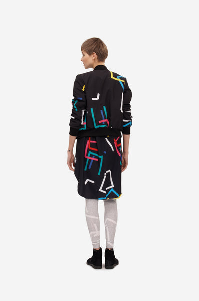 "Leeda: coat - BOMBER ""COLOR PRINT"""