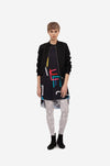 "SHEER LONG TUNIC ""CATCH ME"" B/W"