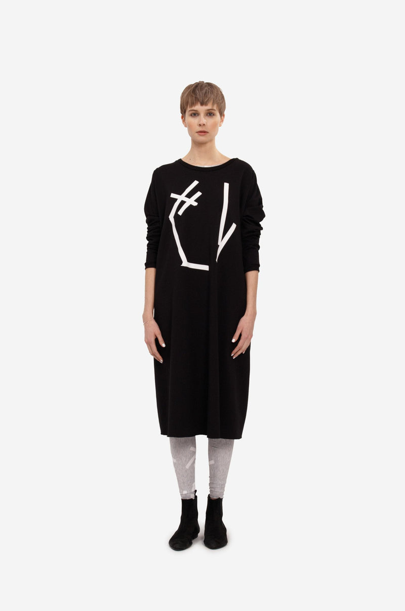 "Leeda: sweatshirt - MAXI SWEATSHIRT ""ABSTRACT"""