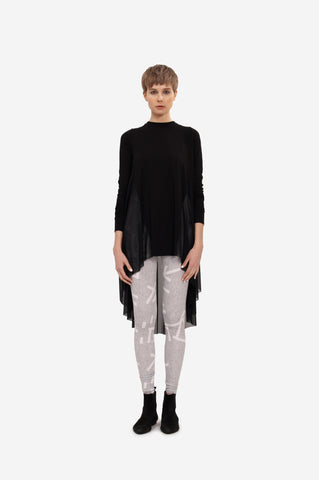 COLORBLOCK SWEATSHIRT WITH FRINGE