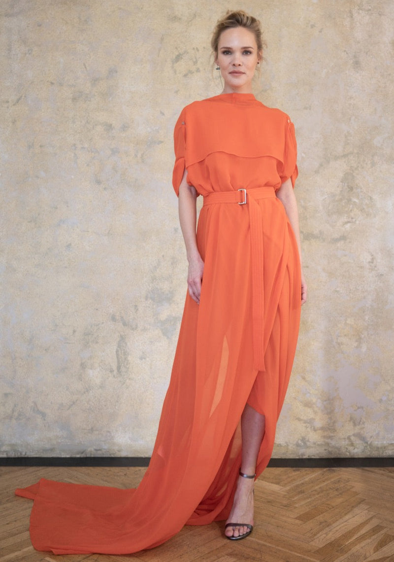 Leeda: dress - ORANGE DRESS ESTER