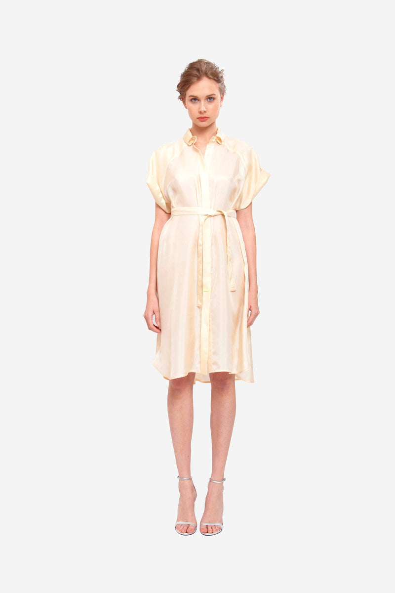 Leeda: dress - SHIRT DRESS CHAMPAIGNE