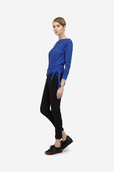 Leeda: top - ASYMETRIC WRAP TOP