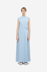 "Leeda: dress - DENIM MAXI DRESS ""TAPES"""