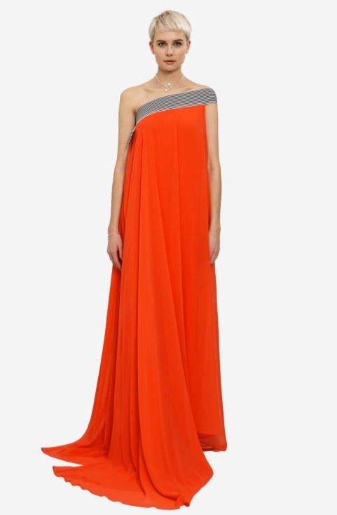 Leeda: dress - DRESS ON ONE SHOULDER - RENTAL