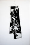"WOOL SCARF ""TOUCH ME""  BLACK & WHITE"