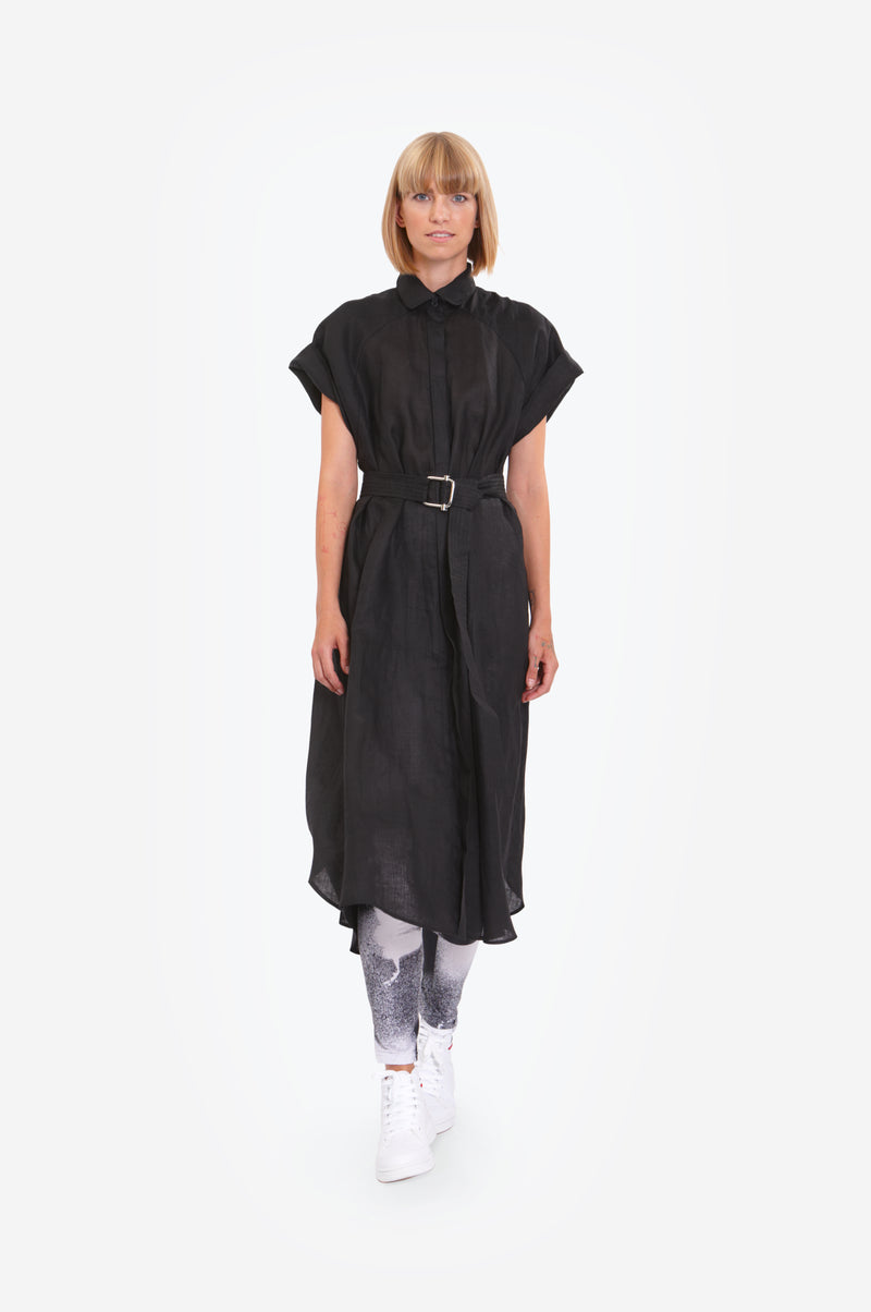Leeda:  - LINEN SHIRT DRESS