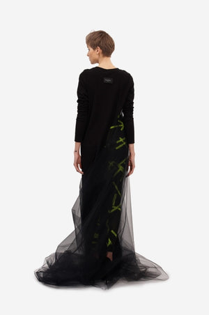 "Leeda: dress - MAXI DRESS ""SIDE WIND"" - RENTAL"