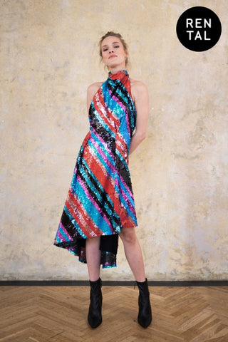 "ASYMMETRIC DRESS ""CHAMELEON"" - RENTAL"