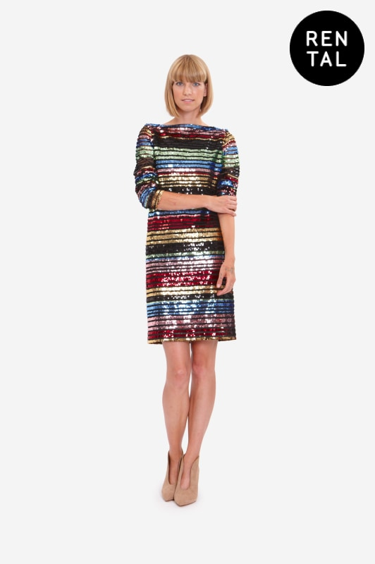 Leeda: dress - MINI SEQUINE DRESS - RENTAL