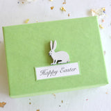Personalised Green Easter Real Quail's Egg with Hidden Silver Charm