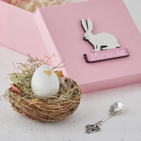 Real Egg Bunny Secret Necklace