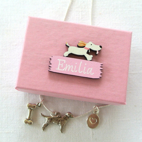 Woof! Dog Necklace In A Box
