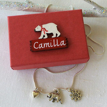 Personalised Polar Bear Necklace
