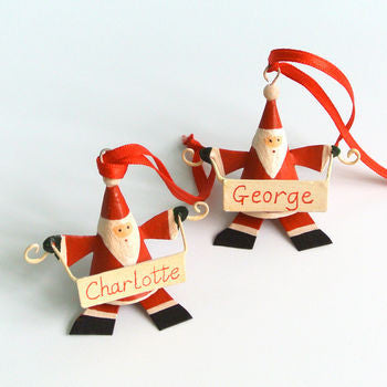 Personalised Father Christmas With Banner