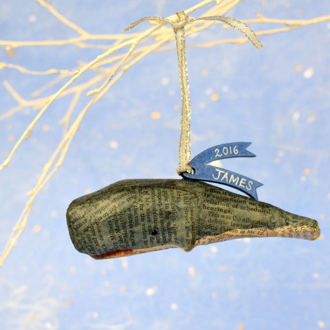 Personalised Christmas Whale Decoration