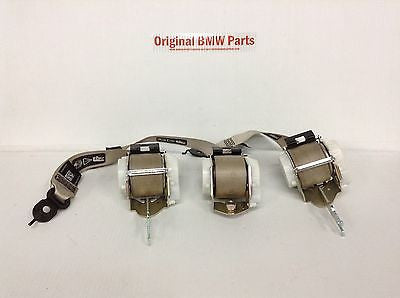 BMW F10 OEM REAR SEAT SEATBELTS 3x OYSTER 528i 535i 550i M5 2011 2012 2013