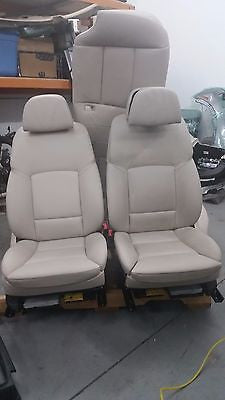 BMW F10 OEM SET OF COMFORT SEATS FRONT AND REAR HEATED OYSTER 535i 528i 550i M5
