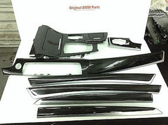 BMW F10 OEM INTERIOR TRIM KIT 9 PIECE WOOD FINELINE ANTHRACITE 535i 535xi 550i