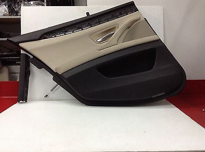 BMW 528i 535i 550i F10 OEM OYSTER REAR DOOR PANELS SUN SHADE OPTION COMPLETE