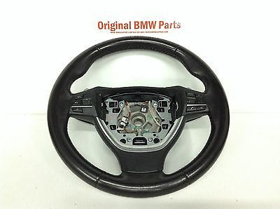BMW F10 OEM SPORT STEERING WHEEL BLACK w/ PADDLES PADDLE SHIFT